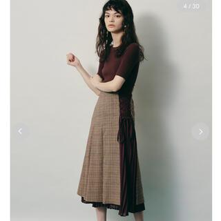 リリーブラウン(Lily Brown)のlilybrown トップス スカート(ロングスカート)