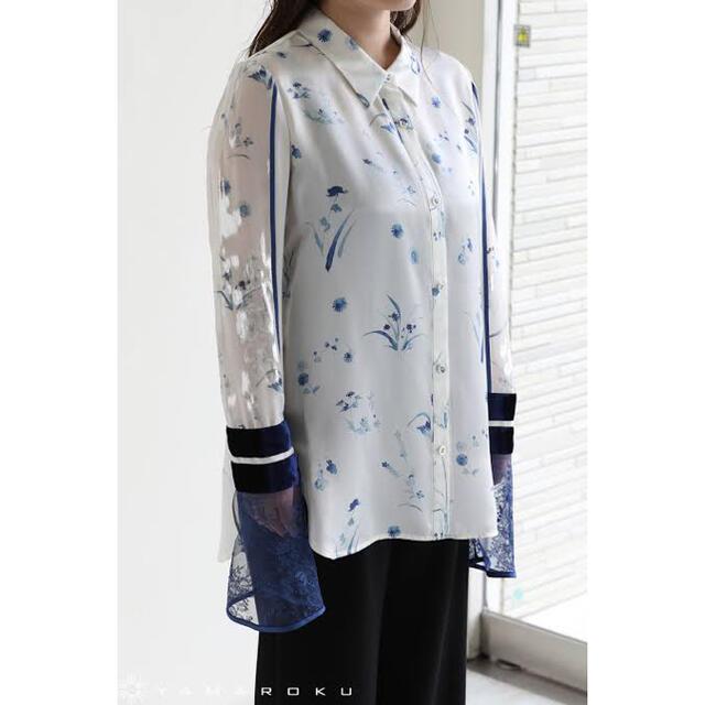 mame(マメ)のmame kurogouchi Silk Lame Print  レディースのトップス(シャツ/ブラウス(長袖/七分))の商品写真