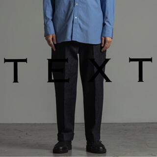 MARKAWEAR - TEXT Flat Front Straight Trousers 定価3.3万