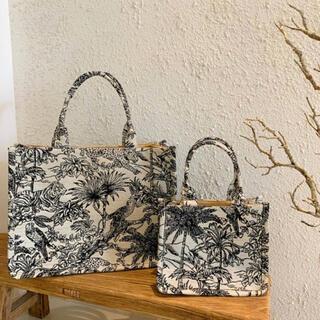 【 新品 】2way仕様 ジャガード織 総柄 ハンドバッグ 韓国 トートバッグ