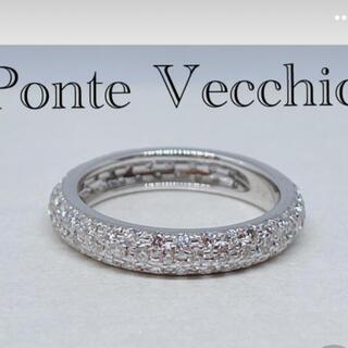 PonteVecchio - 美品ポンテヴェキオ ダイヤモンドパヴェフルエタニティ ピンキーリング