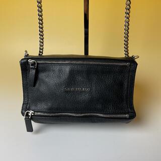GIVENCHY - GIVENCHY 極美品 黒 パンドラ ミニ レザー チェーンバッグ ジバンシー