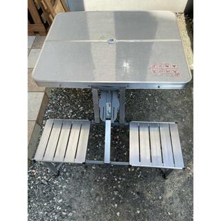 送料込み アルミ テーブル& チェアー(テーブル/チェア)