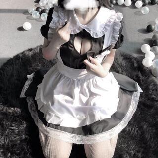 【5点セット】メイド セクシーコスプレ メイド服 ブラック フリル(衣装一式)
