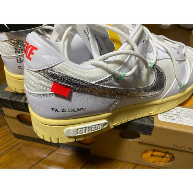NIKE(ナイキ)のoff-white nike dunk low 1 of 50 White メンズの靴/シューズ(スニーカー)の商品写真