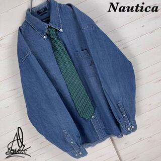 NAUTICA - 《XL》Nautica デニムシャツ☆ワンポイント刺繍ロゴ ビックサイズ