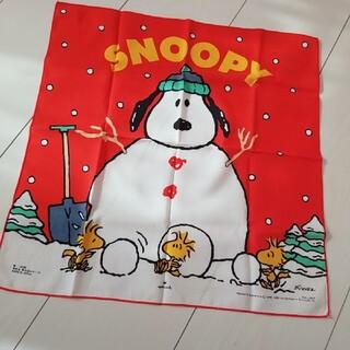 SNOOPY 雪だるま大判ハンカチ
