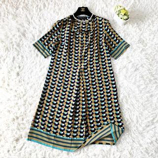 ETRO - 美品 ETRO エトロ ジオメトリック シルク ワンピース ドレス