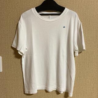 mina perhonen - 【美品】ミナペルホネン☆Tシャツ☆choucho刺繍☆白☆36サイズ♪