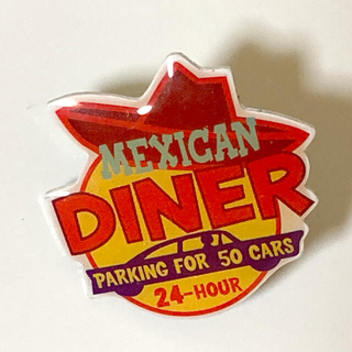 NO.14  ピンバッジ MEXICAN  DINER  parking