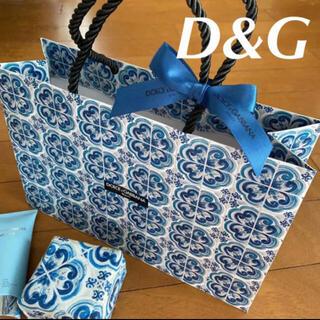 ドルチェアンドガッバーナ(DOLCE&GABBANA)のドルチェアンドガッバーナ  限定 ショッパー 紙袋 ブルー 新品未使用(その他)