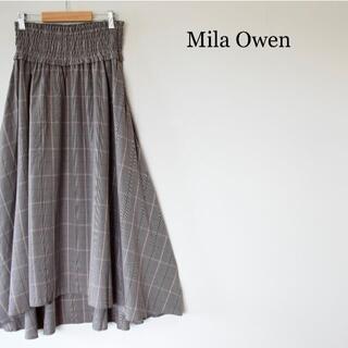 ミラオーウェン(Mila Owen)のミラオーウェン シャーリング アシメ ロング タータンチェック フレアスカート(ロングスカート)