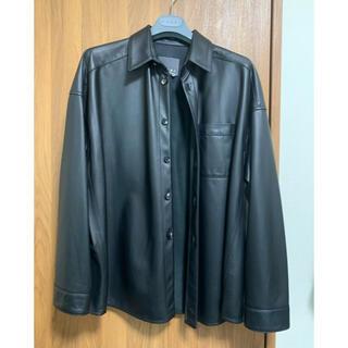 Marni - 【美品】Marni マルニ オーバーサイズ レザーシャツ 46 ブラック