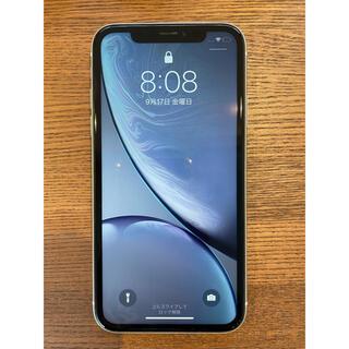 美品 iPhoneXR 128GB 本体 白 ホワイト SIMフリー 本体
