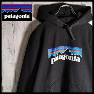 patagonia - 【人気デザイン】パタゴニア センターロゴ プルオーバーフーディー S 黒