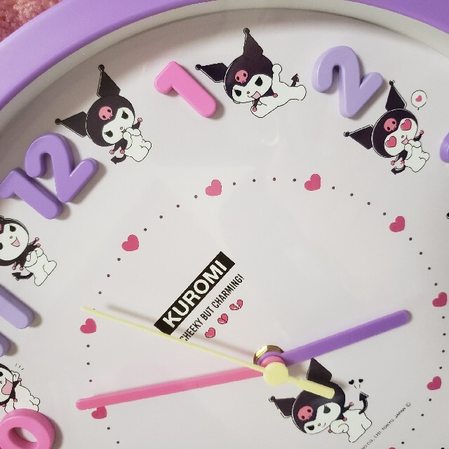 サンリオ(サンリオ)のサンリオ クロミ ♡  壁掛け時計 ウォールクロック エンタメ/ホビーのおもちゃ/ぬいぐるみ(キャラクターグッズ)の商品写真
