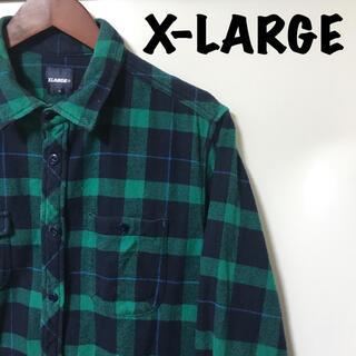 XLARGE - エクストララージ X-LARGE ネルシャツ チェックシャツ 長袖 M