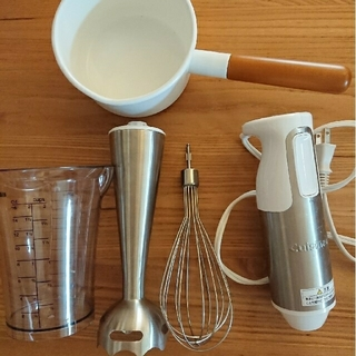 ティファール(T-fal)のクイジナート ブレンダー 野田ホーロー ミルクパン12cm 離乳食 セット(調理機器)
