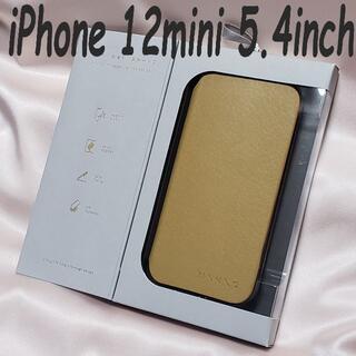 エレコム(ELECOM)の《送料無料》iPhone 12 mini 手帳型ケース ソフトレザー MINIO(iPhoneケース)