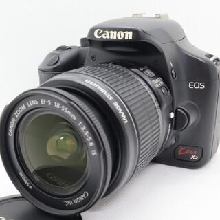 キヤノン(Canon)の9月26日限定価格♪一眼レフ入門【超美品】Canon Kiss X2レンズキット(デジタル一眼)