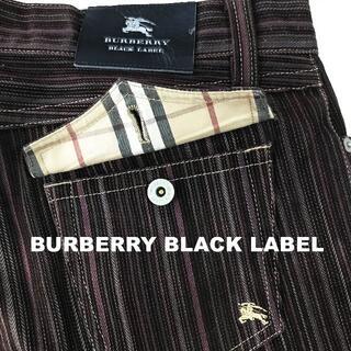 バーバリーブラックレーベル(BURBERRY BLACK LABEL)の【BURBERRY BLACK LABEL】刺繍ロゴ コーディロイパンツ メンズ(デニム/ジーンズ)
