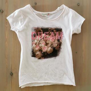 Bonpoint - 3A ボンポワン bonpoint 薔薇プリント DREAM 半袖 Tシャツ