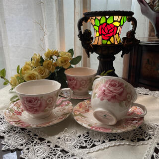 NIKKO - NIKKO 薔薇のカップ&ソーサー 3客セット