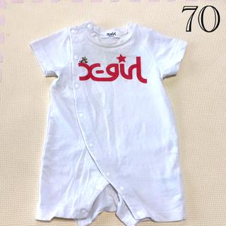 X-girl - X-girl❤️ロンパース 70