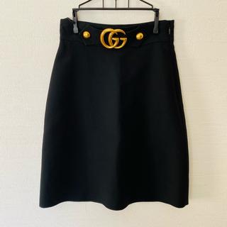 グッチ(Gucci)の【美品】GUCCI グッチ 2018AW GGマーモント スカート サイズ38(ひざ丈スカート)