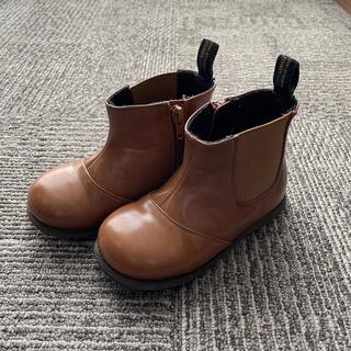 プティマイン(petit main)のpetit main プティマイン サイドゴアブーツ ブラウン 17cm(ブーツ)