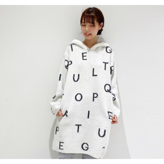 gelato pique(ジェラートピケ)の新品☆パウダーロゴドレス☆ホワイト レディースのルームウェア/パジャマ(ルームウェア)の商品写真