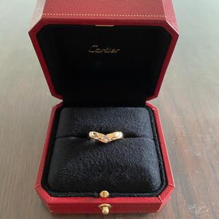 Cartier - 最終お値下げ カルティエ トリアンドル ダイヤモンドリング PG 53