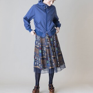 JaneMarple - ジェーンマープル Painting Kitドレススカート ブルー 新品未着用品