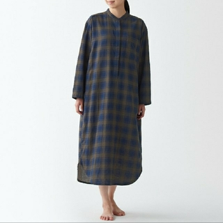 MUJI (無印良品) - インド綿 二重ガーゼクルタ