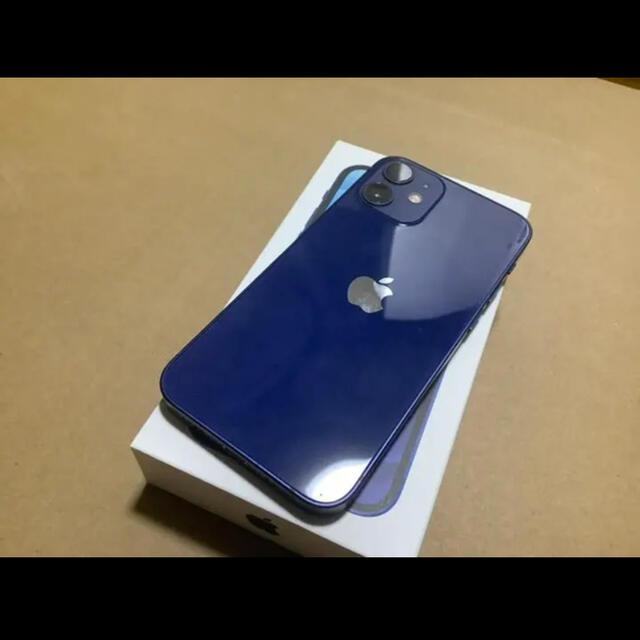 Apple(アップル)のiPhone12 mini 128GB ブルー スマホ/家電/カメラのスマートフォン/携帯電話(スマートフォン本体)の商品写真