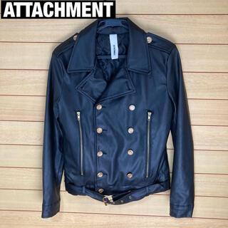 ATTACHIMENT - アタッチメント ライダース風Pコート M