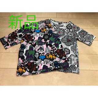 マリメッコ(marimekko)のマリメッコ×ユニクロ Tシャツ チュニック 2枚セット(Tシャツ(半袖/袖なし))