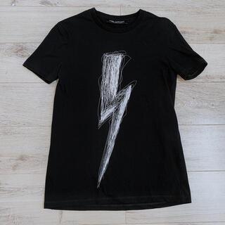 ニールバレット(NEIL BARRETT)のニールバレットNeIL BarreTT ライトニングボルトTシャツ本物XS黒(Tシャツ/カットソー(半袖/袖なし))