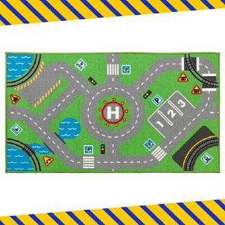 イケア(IKEA)の未使用◇イケア ストラボ ロードマップ柄 ラグマット(ラグ)