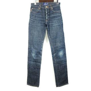 バーバリーブルーレーベル(BURBERRY BLUE LABEL)のバーバリーブルーレーベル デニム パンツ ジーンズ ボタンフライ 裾チェック(デニム/ジーンズ)