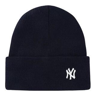 ニューエラー(NEW ERA)のNEW ERA MLB  韓国 ニットキャップ ニット帽NY ネイビー 男女兼用(ニット帽/ビーニー)