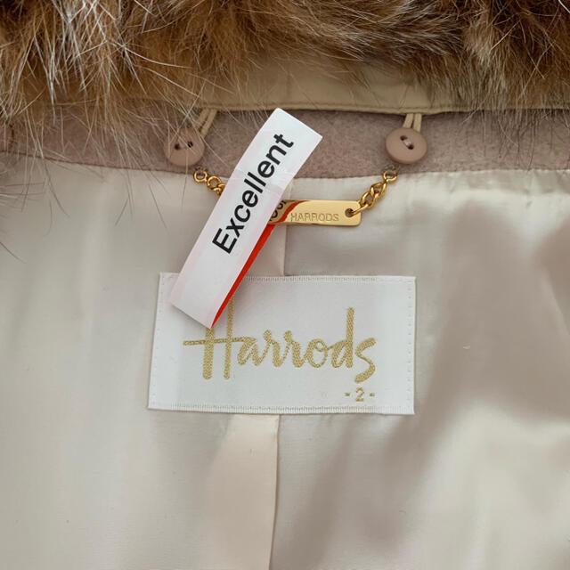Harrods(ハロッズ)のハロッズ  フォックスファー付きコート 美品 レディースのジャケット/アウター(毛皮/ファーコート)の商品写真