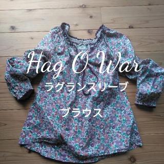 ハグオーワー(Hug O War)のhag o war リバティ柄風ラグランスリーブブラウス 1119(シャツ/ブラウス(長袖/七分))
