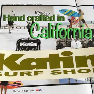 ハーレー(Hurley)のKatinケーティン限定カスタムサーフトランクスSURF bigバナーステッカー(サーフィン)