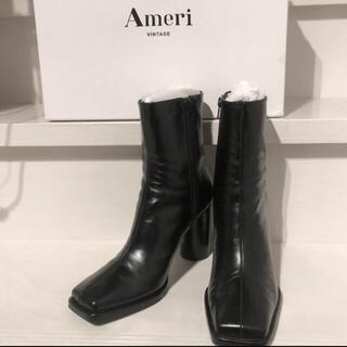 アメリヴィンテージ(Ameri VINTAGE)のameri スクエアブーツ ブラック(ブーツ)