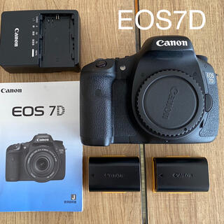 Canon - Canon EOS 7D 本体⭐︎取説バッテリー2個付