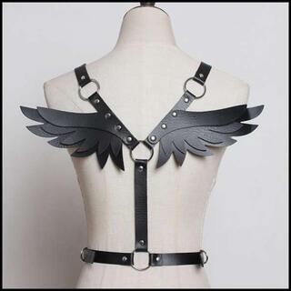 ボディーハーネス/ボディーベルト/天使の羽?悪魔の羽?/コスプレやプレゼントに(衣装一式)