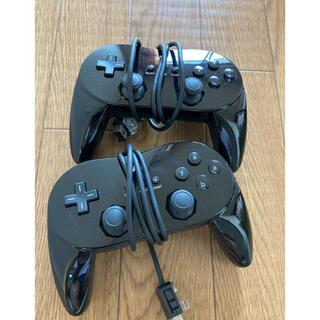 ウィー(Wii)のWii クラシックコントローラーPRO 黒セット(その他)