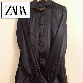 ZARA - 《ZARA》サテンシャツ シャツ ユニセックス メンズ ロングシャツ サテン