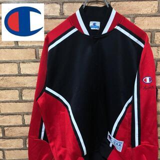 チャンピオン(Champion)の【90s】当時もの チャンピオン バスケット ジャージ デカロゴ 赤 白 黒 (ジャージ)